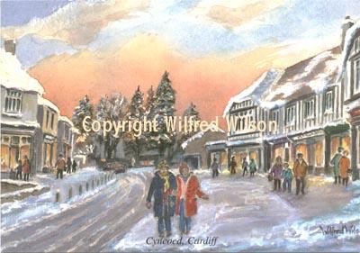 Christmas Scenes By Wilfred Wilson Cyncoed Cardiff