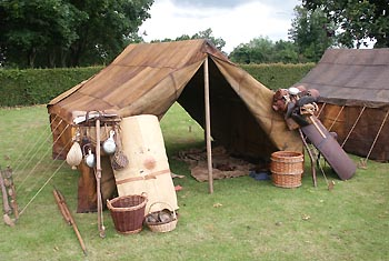 Roman goatskin tent & Roman goatskin tent used on route marches