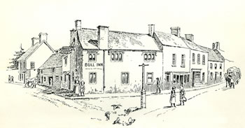 The Old Market Place Caerleon drawn by Samuel Loxton c. 1900