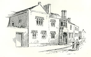 The Priory Caerleon drawn by Samuel Loxton c. 1900