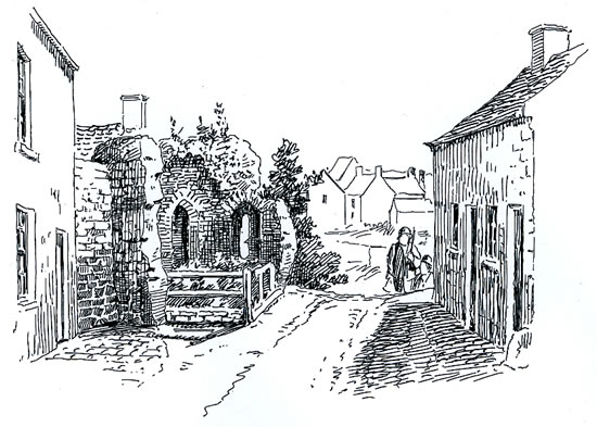 Remains of Roman Tower Caerleon Sketch by Samuel Loxton c. 1900