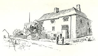 Hanbury Arms and Roman Tower Caerleon drawn by Samuel Loxton c. 1900