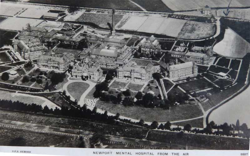 "St Cadocs Hospital Caerleon From The Air 1930 - ""Newport Mental Hospital"""