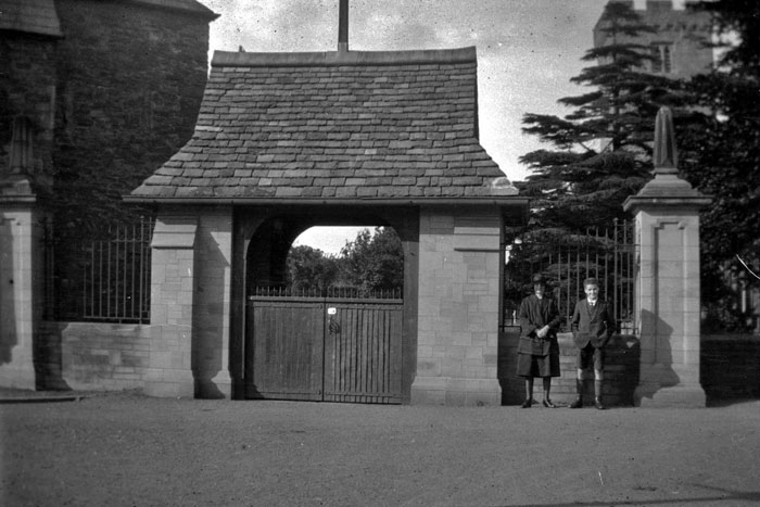 The Lych Gate, Saint Cadocs Church Caerleon, 1924.