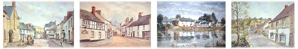 Views of Caerleon painted by Wilfred Wilson